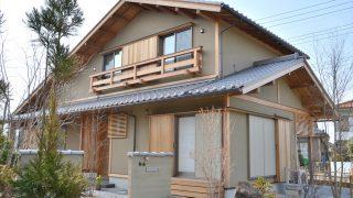化粧垂木の大屋根の長期優良住宅