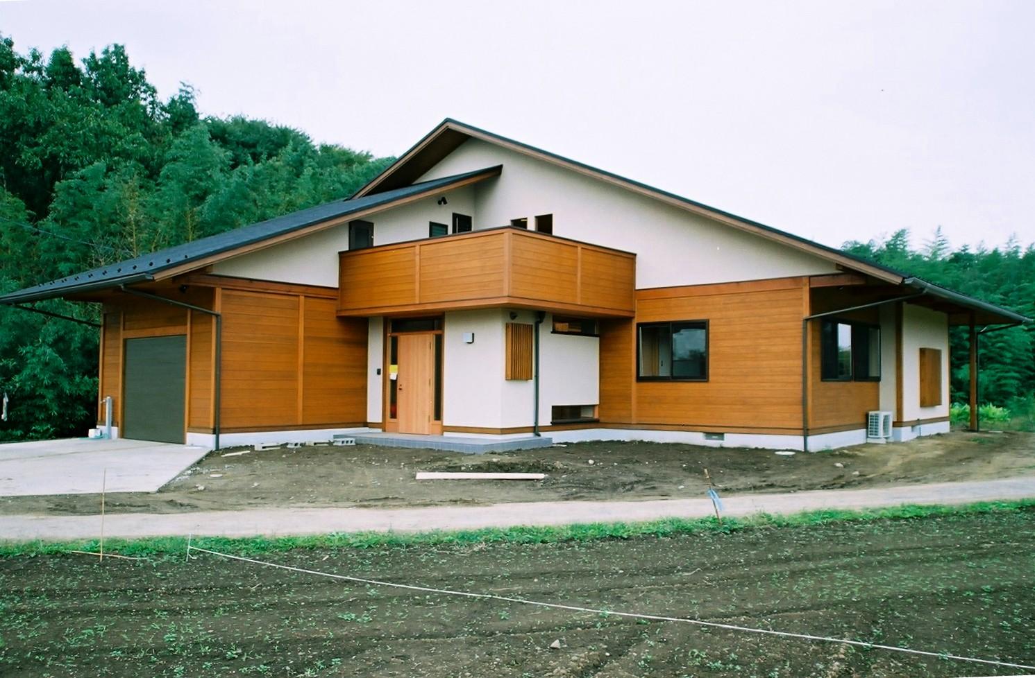 モダンな外観デザインの在来工法の家